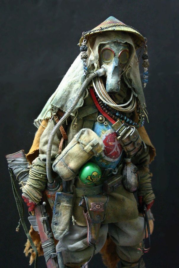Dystopia, World War III By BHEAD, gas mask, respirator, post apoco,