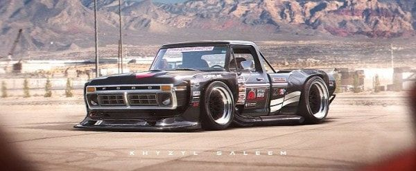 1970s Ford F-Series with Toyota AE86 N2 Wide Body Kit