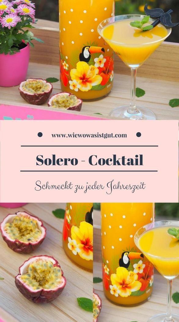 Dieser Solero - Cocktail (oder Likör) ist in nicht mal einer Minute gemixt. Er ist wahnsinng lecker und eisgekühlt ein Genuss. Kann man im Thermomix oder mit dem Mixer herstellen. Ich liebe Maracujas. #solero #thermomix #cocktail