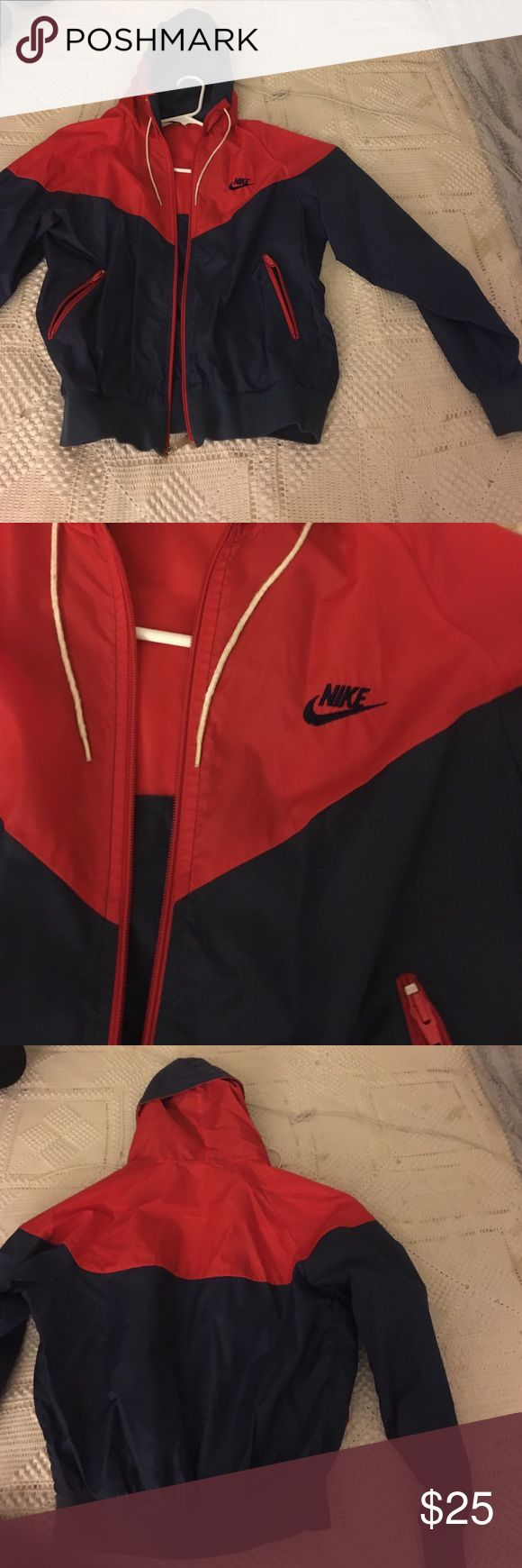 Nike Windbreaker Trendy blue and red Nike windbreaker jacket Nike Jackets & Coats