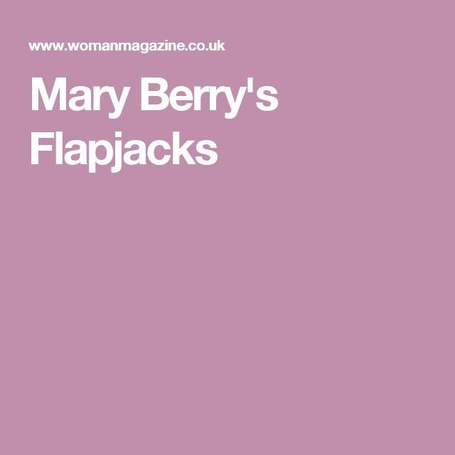 Mary Berry's Flapjacks