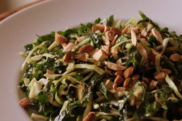 Kale Slaw with Avocado and Almonds