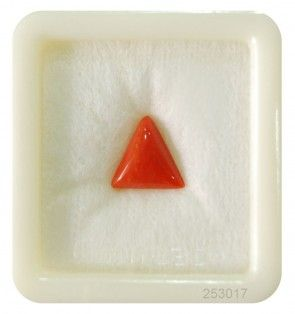 Buy this #fascinating #coral #gemstone in triangular shape 2.45ct at wholesale price at @ http://bit.ly/2khzDoJ #astrology #coralgemstone