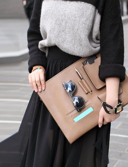 Seoul Fashion Week Street Style - Functionality goes together with fashion! #statement #accessories