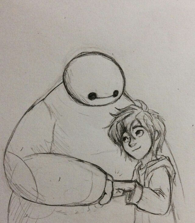 Hiro Hamada and Baymax share a fist bump