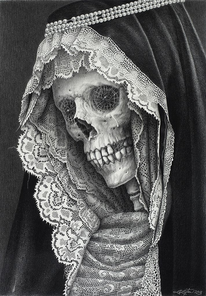 """Carnival of the Dead"" by Laurie Lipton a little spooky but I love the photo"