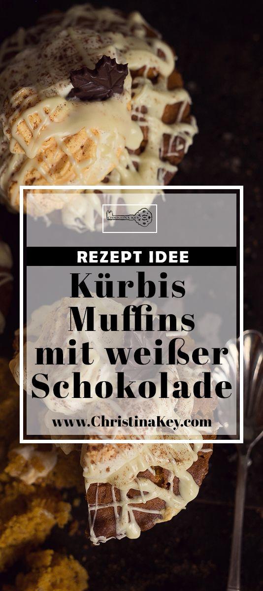 Rezept Idee im Herbst: Köstliche Kürbis Muffins mit doppelt weißer Schokolade - das perfekte Muffin Rezept für Genießer! Jetzt entdecken auf CHRISTINA KEY - dem Fotografie, Blogger Tipps, Rezepte, Mode und DIY Blog aus Berlin, Deutschland