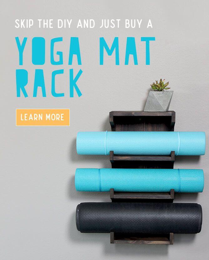 How To Make A Wood Yoga Mat Holder Workout Rooms Yoga Mat Holder Diy Yoga