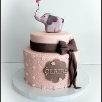 Rosa und graue Elefant
