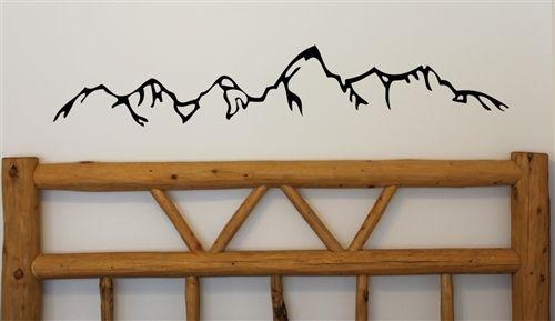 Teton Mountains Silhouette Wall Decal