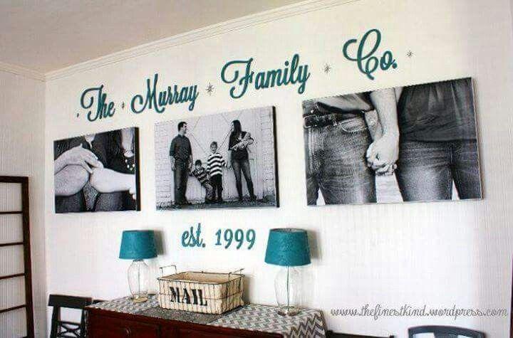 Idea para decorar con fotos familiares hogar pinterest for Idee per appendere foto