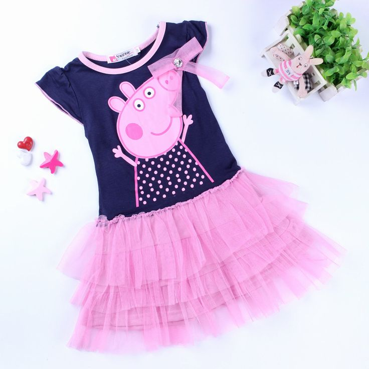 Peppa Pig Dress Girls Dresses Summer 2015 Cotton Dresses For Girl Tutu Pepa Pig Clothing Kid Kids Piggy