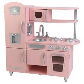 KidKraft Vintage Kitchen - Pink - 35.700H x 33.000W x 11.700D - Target.com