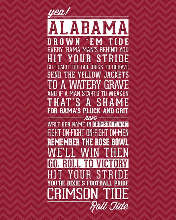 University of Alabama Crimson Tide Fight Song - YouTube