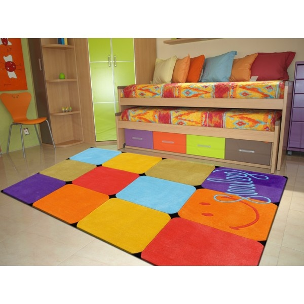 alfombra de acrilico modelo smiley