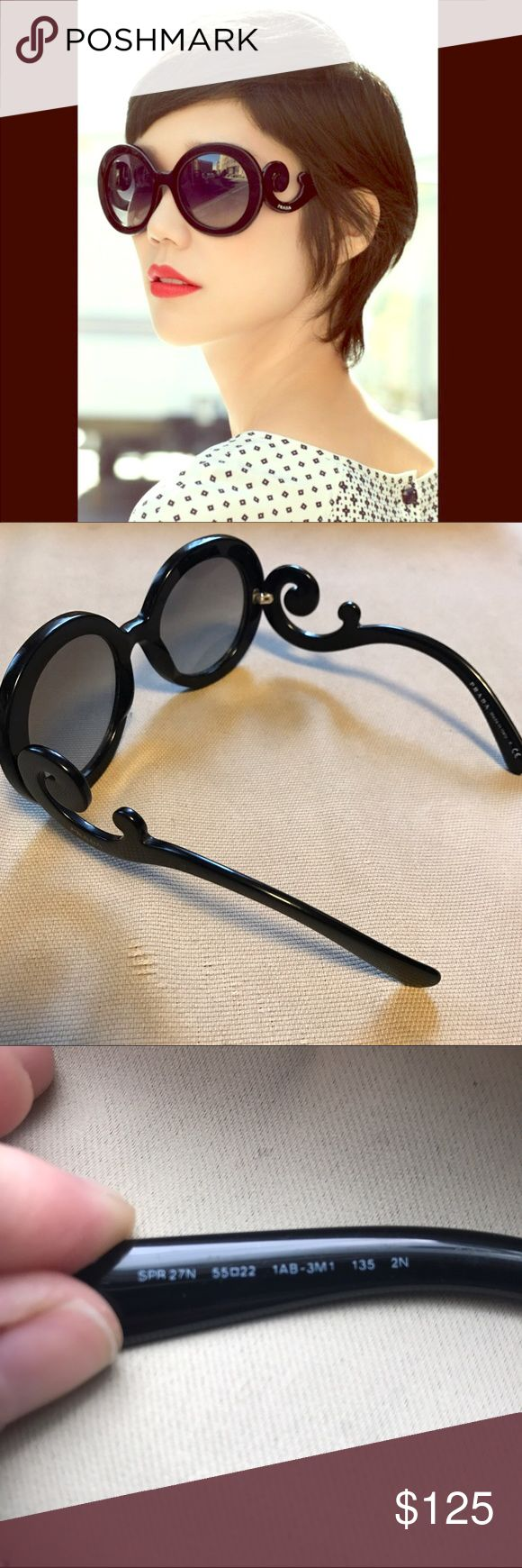 "Prada Baroque Sunglasses Here are some extra pictures of these gorgeous, gently used Prada ""Baroque"" sunglasses. Please see original listing to make an offer! ❤ Prada Accessories Sunglasses"