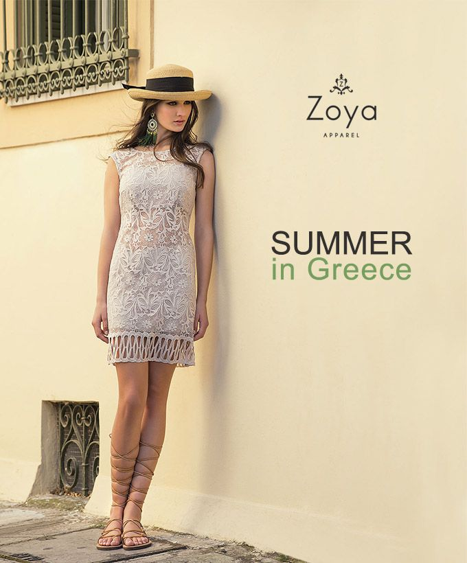 This #summer be a #Grecian #Goddess #greece #lace #fashion #woman  #zoya #ss15 #style #dress
