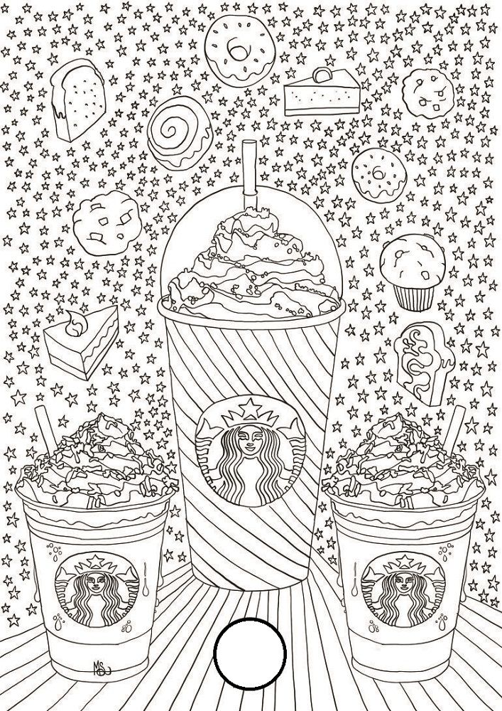 Starbucks Coloring Pages To Print Printable Coloring Pages Cute Coloring Pages Coloring Book Pages