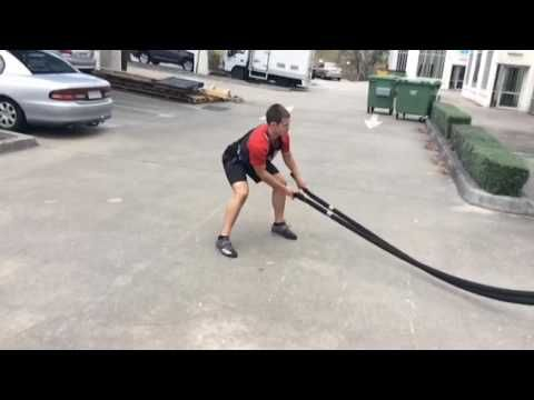 The Hardest Battling Ropes Exercise You Can Do - Woodchop Slams!