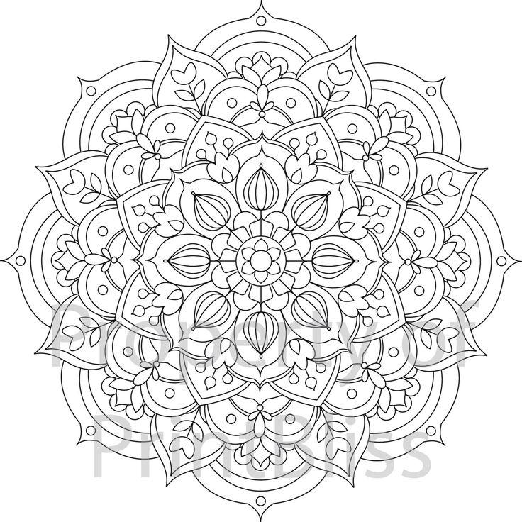 best 25+ mandala printable ideas on pinterest | mandala coloring ... - Coloring Pages Mandalas Printable