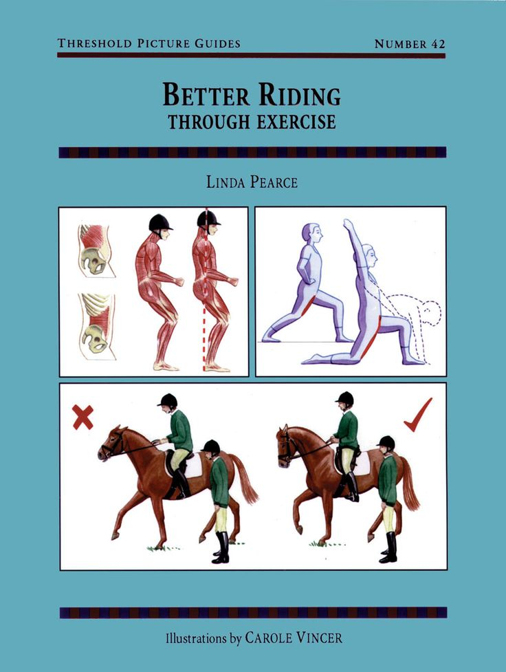 Threshold Picture Guide No. 42 Better Riding Through Exercise by Linda Pearce   Quiller Publishing. A guide to improving the rider's position and effectiveness through a programme of exercises and stretches specifically designed for riders. #horse #pony riding #training #exercise
