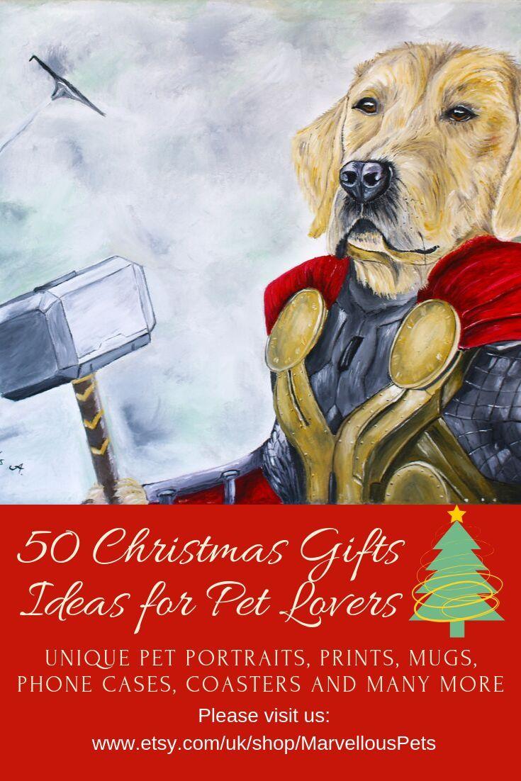 Thor Golden Retriever Custom Oil Painting Pet Portrait Pet Portrait Custom Marvel Art Birthday Gift Christmas Gift Pet Portraits Animal Lover Custom Pet Portraits