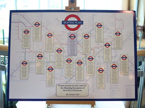 London Underground themed wedding table plan. http://www.toptableplanner.com/blog/london-underground-wedding-table-plan