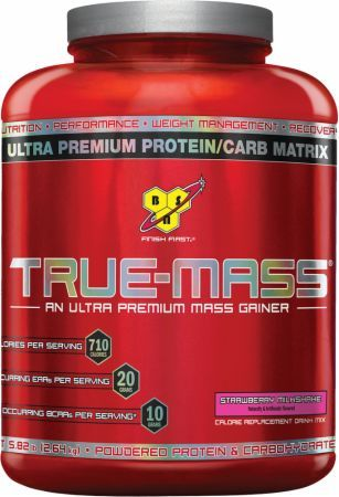 BSN True-Mass Strawberry Milkshake 5.82 Lbs. BSN042 Strawberry Milkshake - Supports Muscle Growth, Muscle Protein Synthesis, and Recovery*