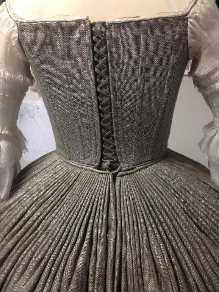 Close-up details of the wedding dress pleats, posted on Terry's blog