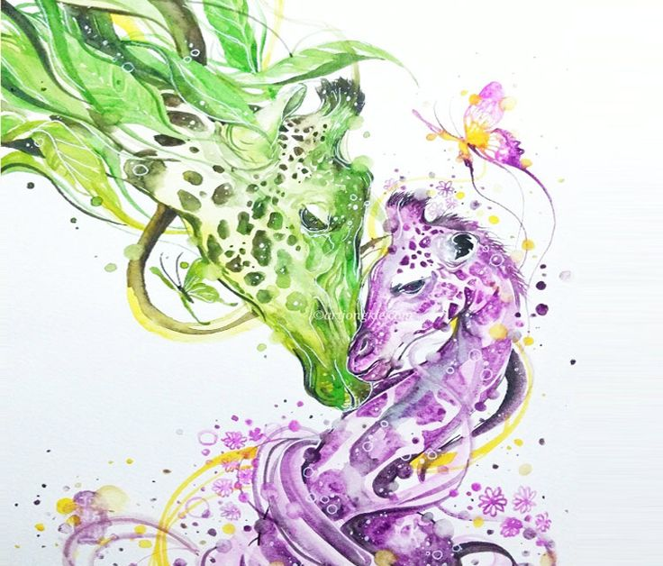 My Precious watercolor painting work by artist Art Jongkie (Luqman Reza) from Indonesia.
