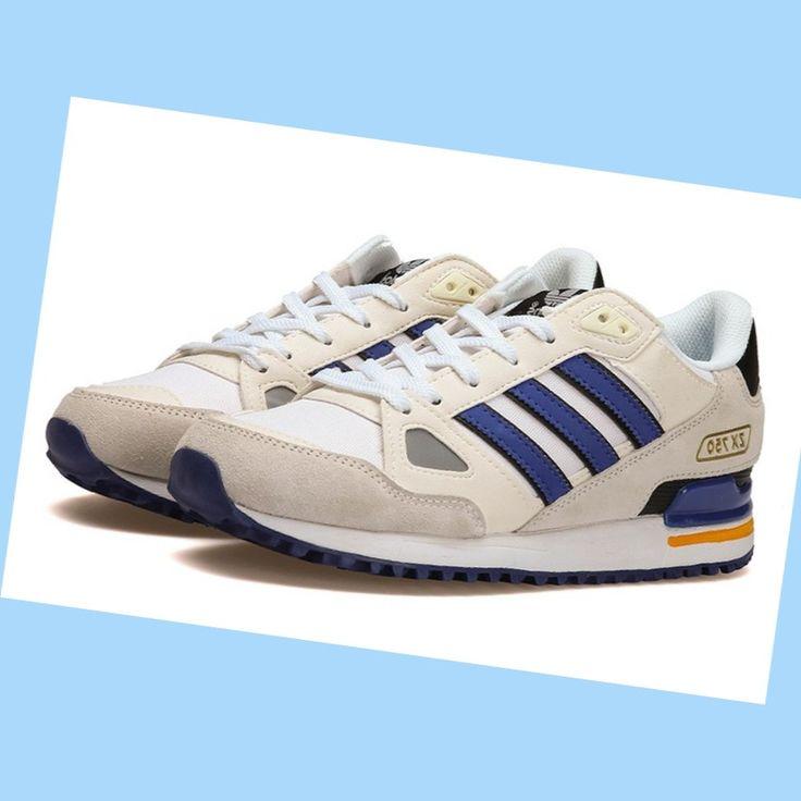 Menn Adidas Originals sko ZX 750 Beige stamme Blå Hvit Svart {0gPTH2} 1