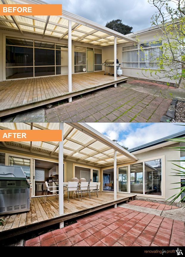 #backyard #outdoorliving #renovation See more exciting projects at: www.renovatingforprofit.com.au