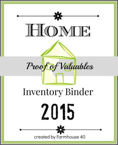 Printable Home Inventory Binder