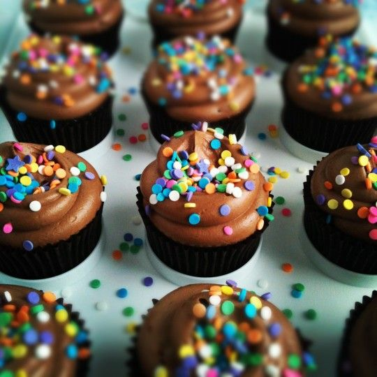Chocolate Birthday Cupcakes with Nutella Cloud Frosting via @Rosie Alyea
