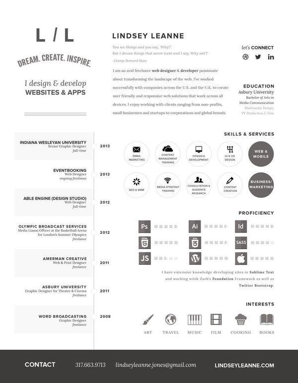 layout resume