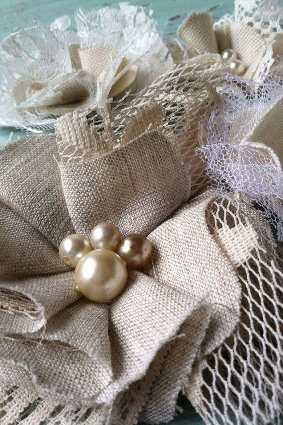 Linen & Lace, Fabric Flowers, Wholesale Flowers, Floral Appliqués, Floral Embellishments, Scrapbook Flowers on Etsy, $26.00
