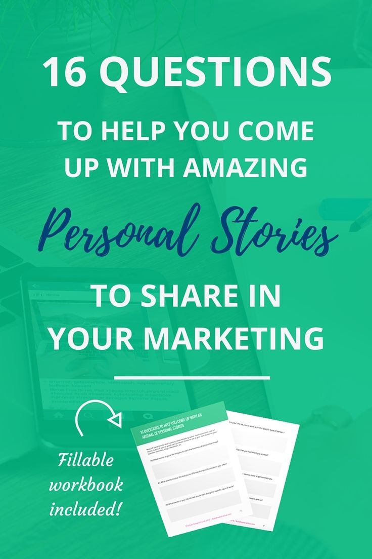 Personal stories make a HUGE connection with your readers. Use this workbook to pull out and document amazing personal stories to use in your marketing again and again.