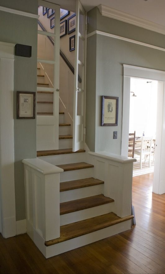 Amazing stair way : with door : dream house