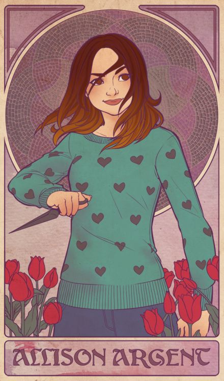 cass-evelyn-art:  Individual posts: Scott   Allison   Stiles   Lydia   Kira   Malia