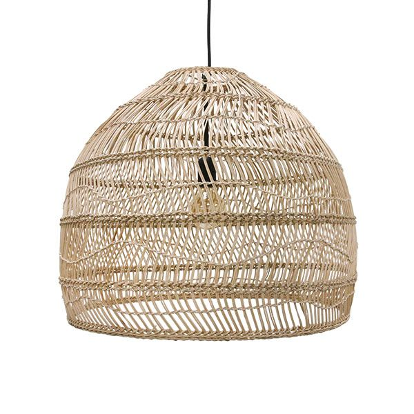 Products details - Lighting - Wicker hanging lamp ball natural M HK Living - Over dining table