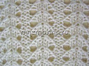 Knitting.  Patrón a cielo abierto y el esquema