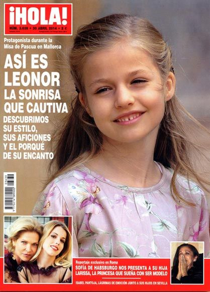 infanta Leonor, princesa Letizia, príncipe Felipe, revista ¡HOLA!