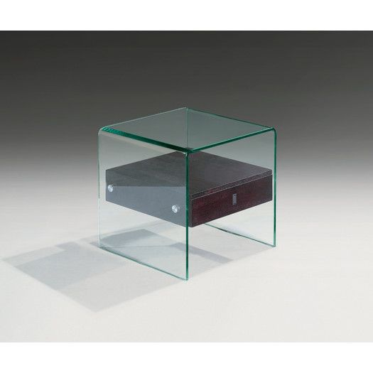 creative images bent glass end table allmodern