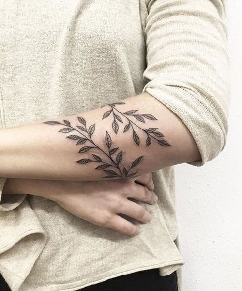 6bee2328e Really Cute Branch and Leaf Tattoos Equally Beautiful for Girls and Men