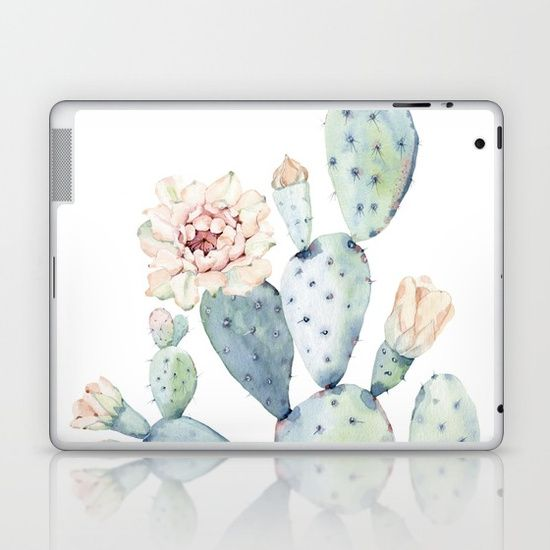 Oh this is so feminine and just yeah wonderful! I love it sooo much! This is the perfect skin for a sophisticated look! #laptopskin #feminine #techie #cacti #affiliate