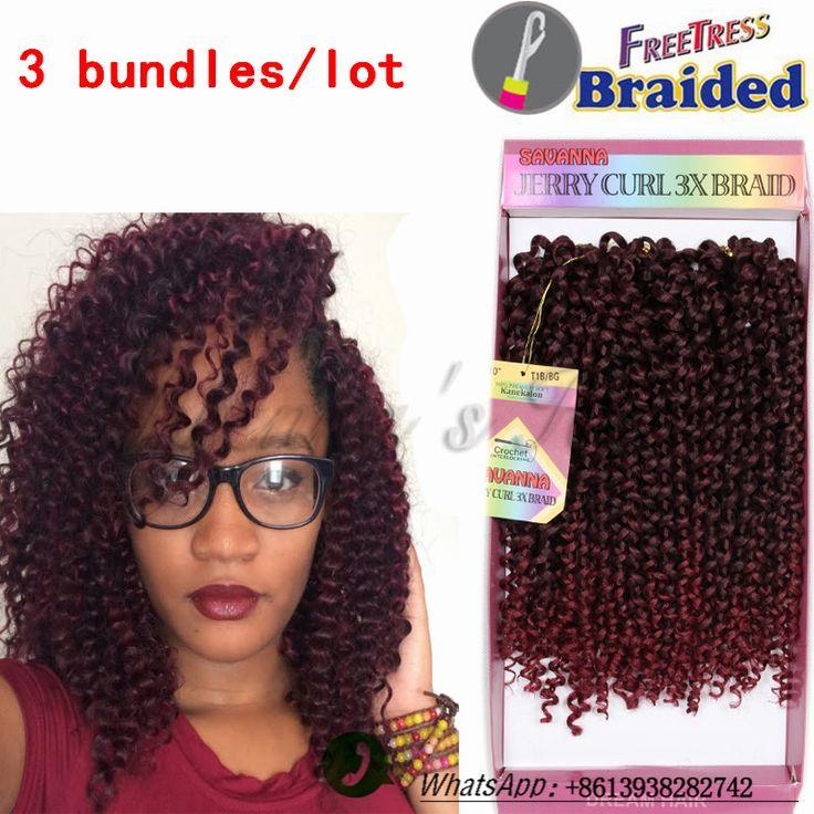 Ombre braiding hair 10inch freetress water wave hair two tone 1B/BUG Synthetic Braiding Hair kinky curly Crochet Braids Hair