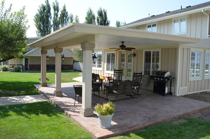 16 best images about patio covers on pinterest back deck for Stucco patio cover designs
