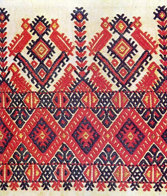 Traditional Cretan embroidery.