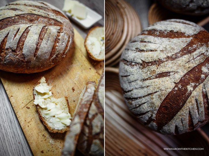 Domowy chleb pszenny. Najprostszy – bez wyrabiania | Karo in the Kitchen