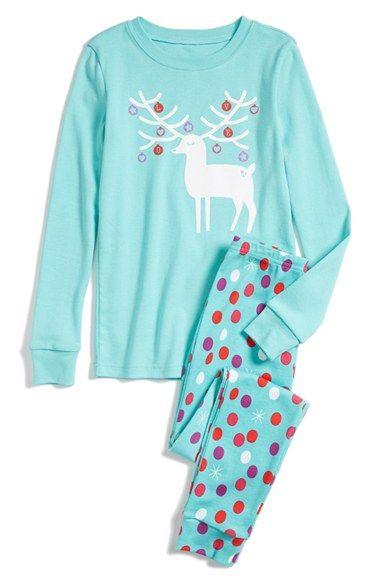 Tucker + Tate Two-Piece Fitted Pajamas (Toddler Girls, Little Girls & Big Girls)   Nordstrom